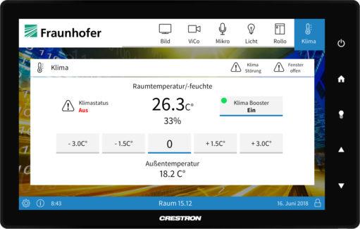 Oberflächendesign Crestron Fraunhofer Gesellschaft