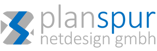 Graues Logo der planspur netedign gmbh