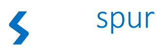 Weißes Logo der planspur netedign gmbh